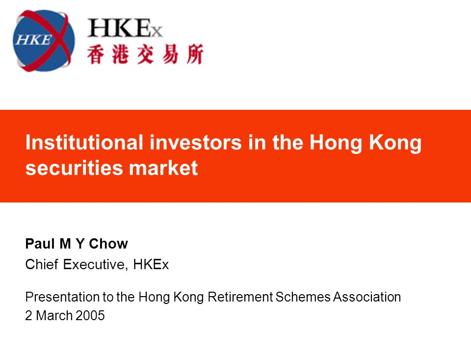 12 Institutional Investor Profile - Overall Key players of the Hong Kong securities market Key players of the Hong Kong derivatives market Trading activities continued to expand over the years