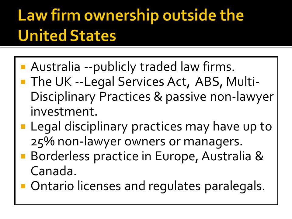  Australia --publicly traded law firms.