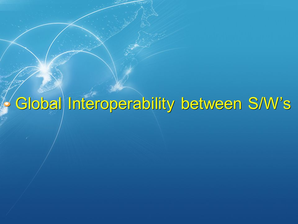 Global Interoperability between S/W's