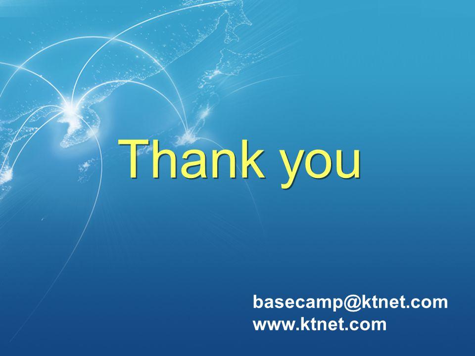 basecamp@ktnet.com www.ktnet.com Thank you