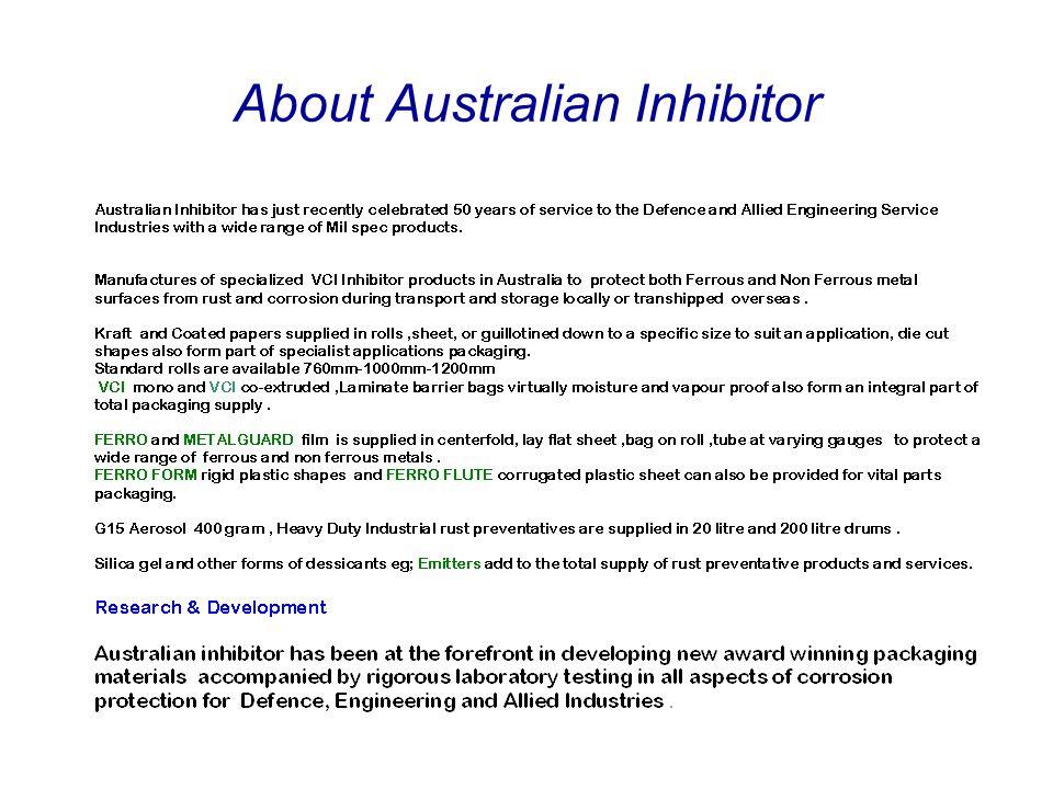 About Australian Inhibitor