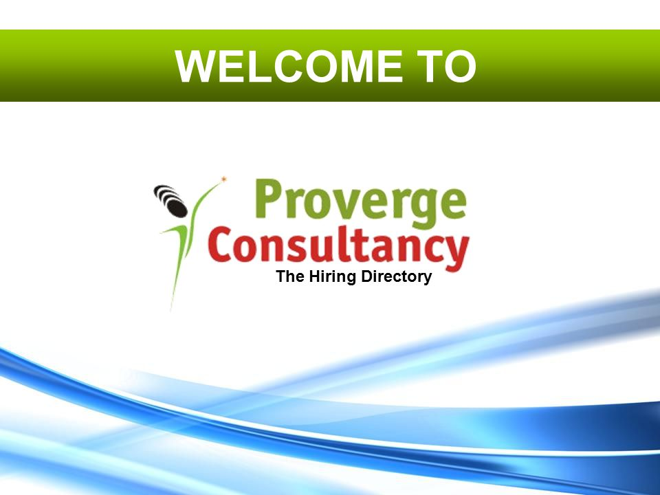 The Hiring Directory WELCOME TO