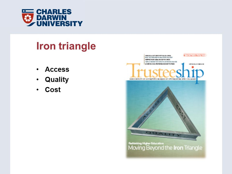Access Quality Cost Iron triangle