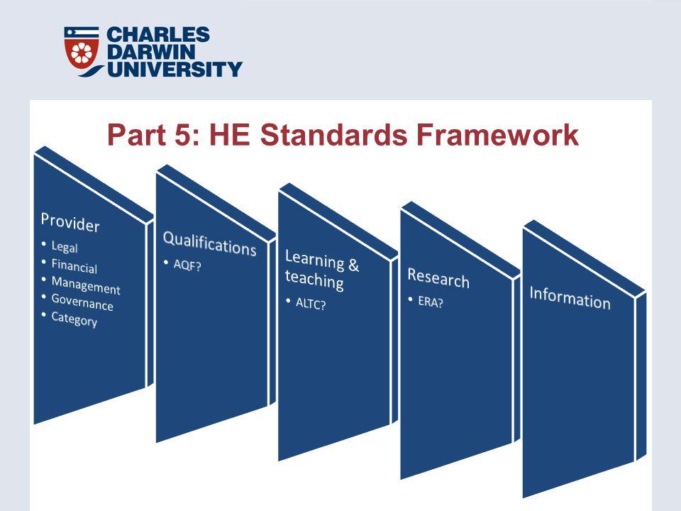 Part 5: HE Standards Framework