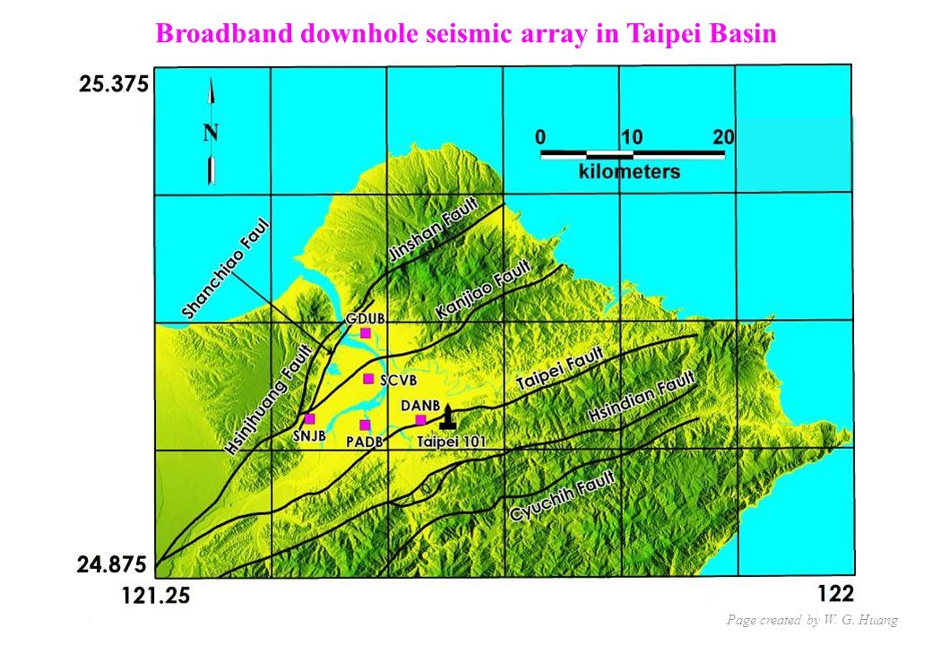 Broadband downhole seismic array in Taipei Basin Page created by W. G. Huang