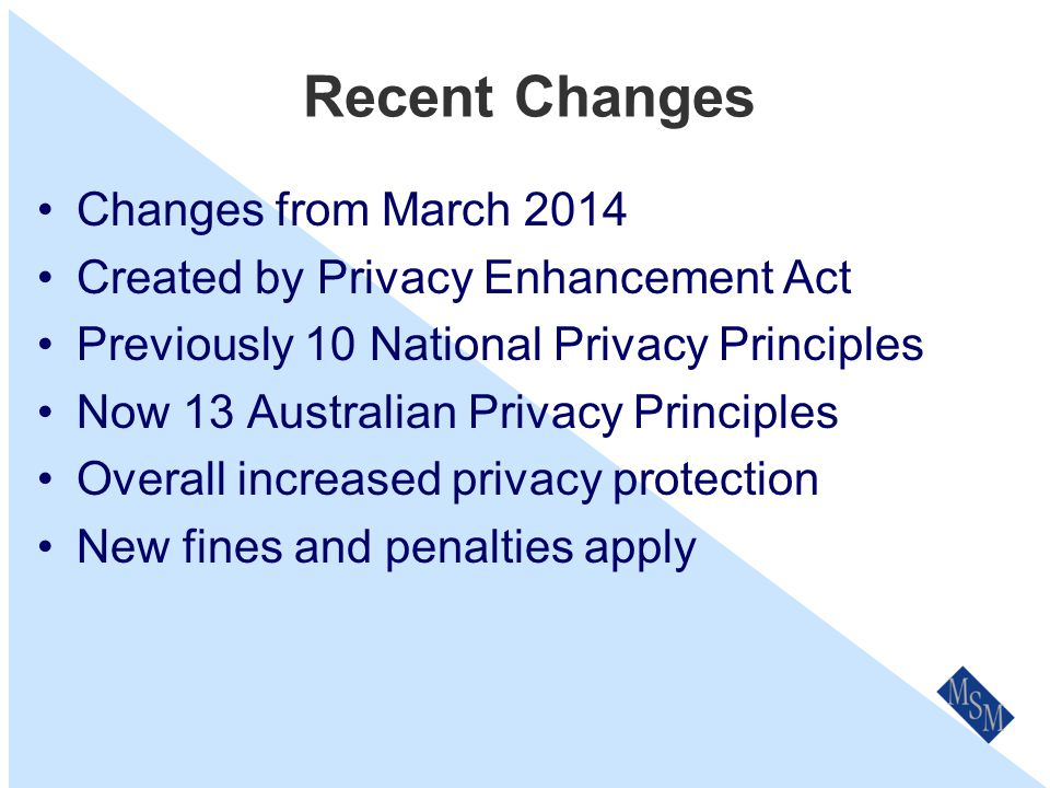 Privacy Promotion & Openness We make sure that all new and existing staff read Privacy Policy & Procedures.