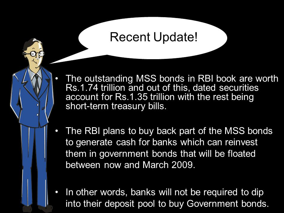 Recent Update! The outstanding MSS bonds in RBI book are worth Rs.1.74 trillion and out of this, dated securities account for Rs.1.35 trillion with th