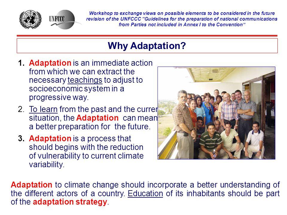 Why Adaptation.