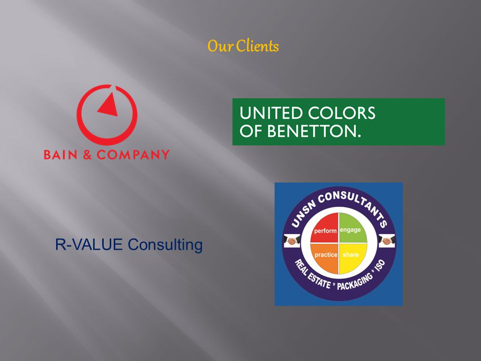 Our Clients R-VALUE Consulting