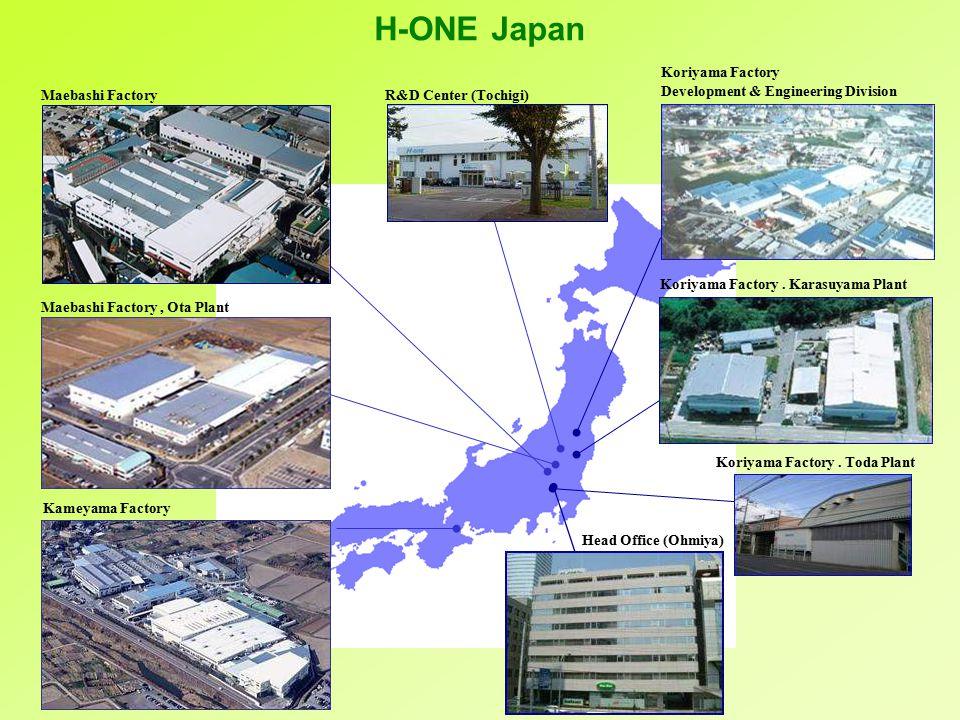 R&D Center (Tochigi) Maebashi Factory Maebashi Factory, Ota Plant Kameyama Factory Koriyama Factory Development & Engineering Division Koriyama Factory.