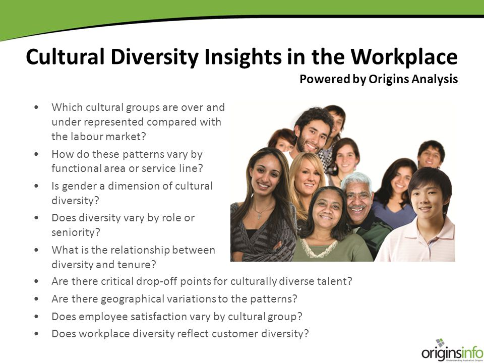 Which cultural groups are over and under represented compared with the labour market.