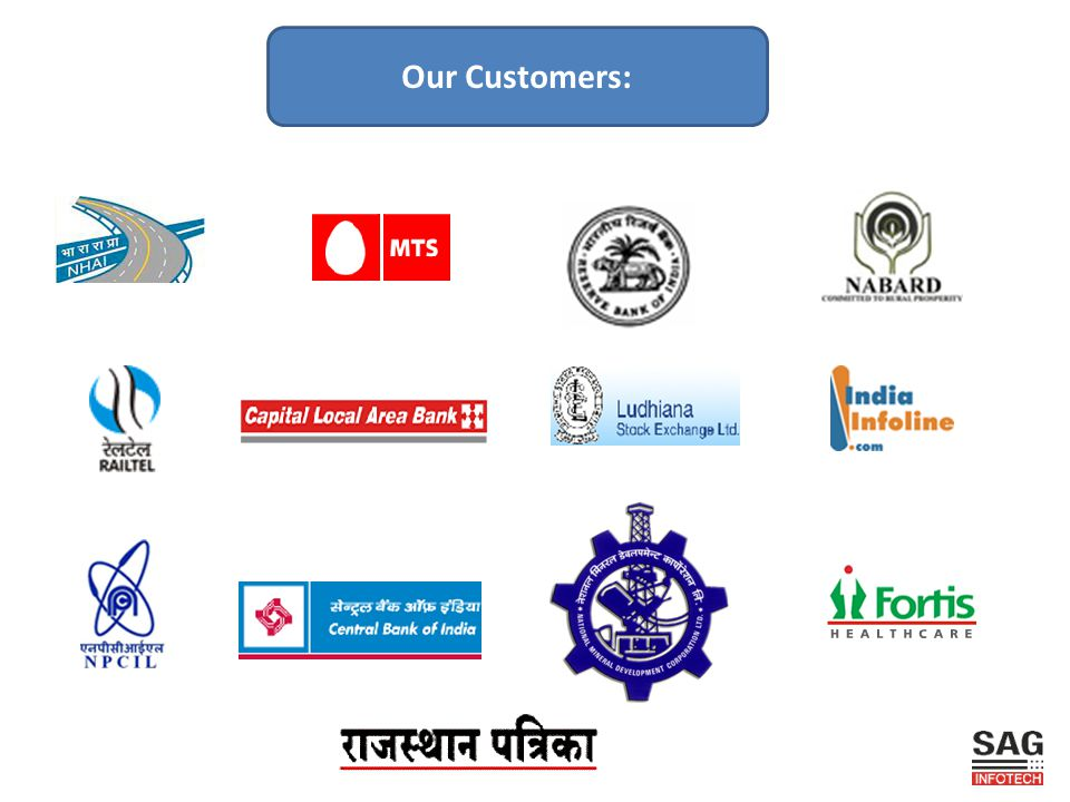 Our Customers: