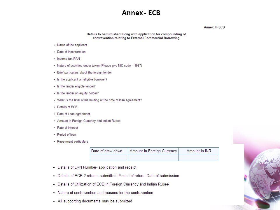 Annex - ECB