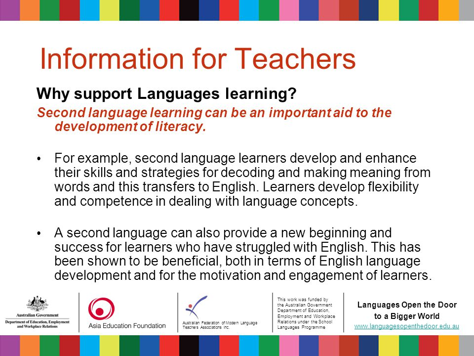 Australian Federation of Modern Language Teachers Associations Inc.