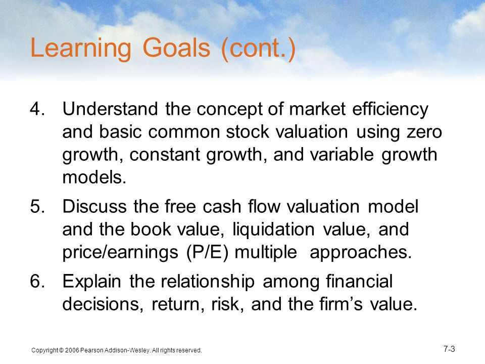 Copyright © 2006 Pearson Addison-Wesley. All rights reserved. 7-4 Differences Between Debt & Equity
