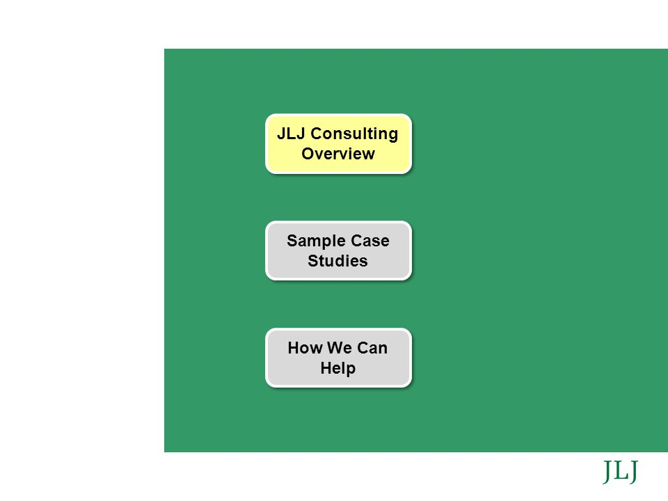JLJ Consulting Overview Sample Case Studies How We Can Help