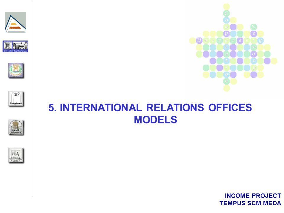 INCOME PROJECT TEMPUS SCM MEDA 5. INTERNATIONAL RELATIONS OFFICES MODELS