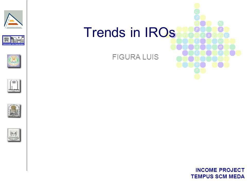 INCOME PROJECT TEMPUS SCM MEDA Trends in IROs FIGURA LUIS