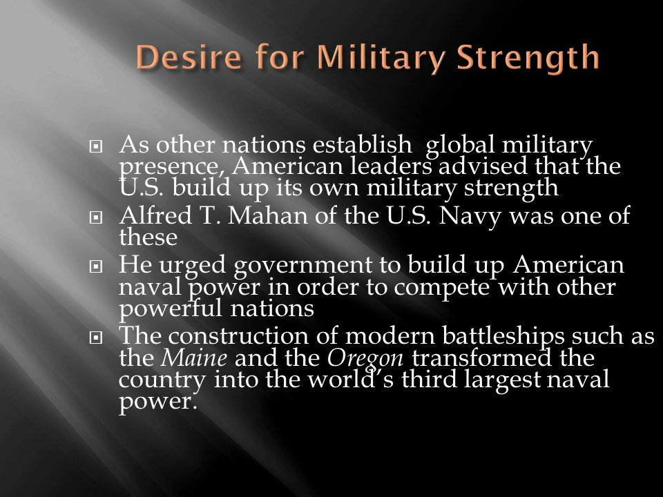  As other nations establish global military presence, American leaders advised that the U.S.