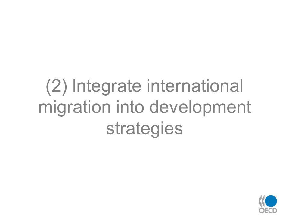 (2) Integrate international migration into development strategies
