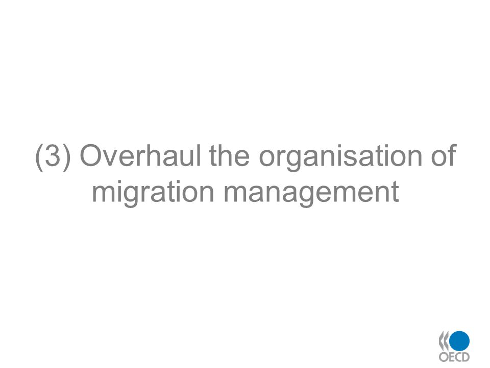 (3) Overhaul the organisation of migration management