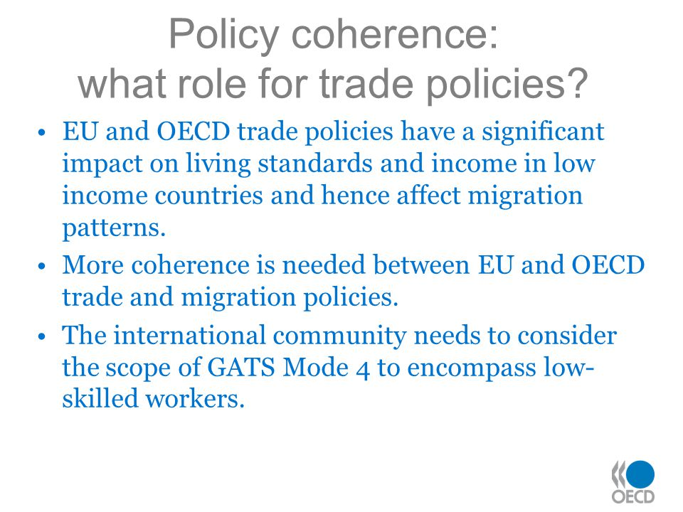 Policy coherence: what role for trade policies.