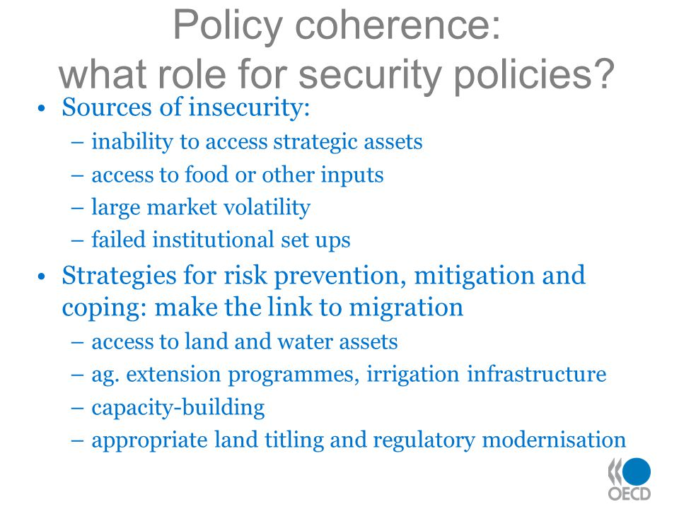Policy coherence: what role for security policies.