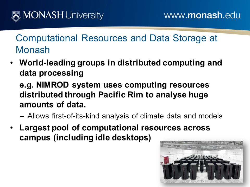 World-leading groups in distributed computing and data processing e.g.