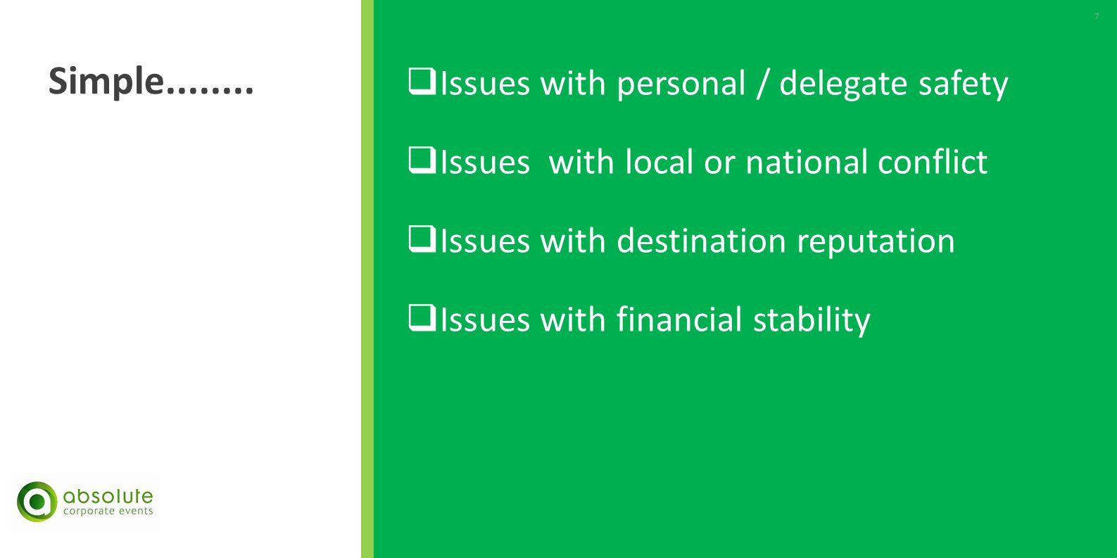 Criteria for Destination Selection - Client