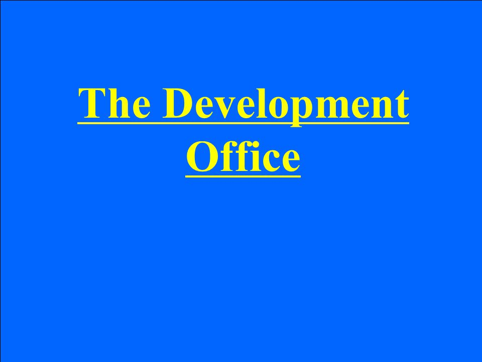 The Development Office