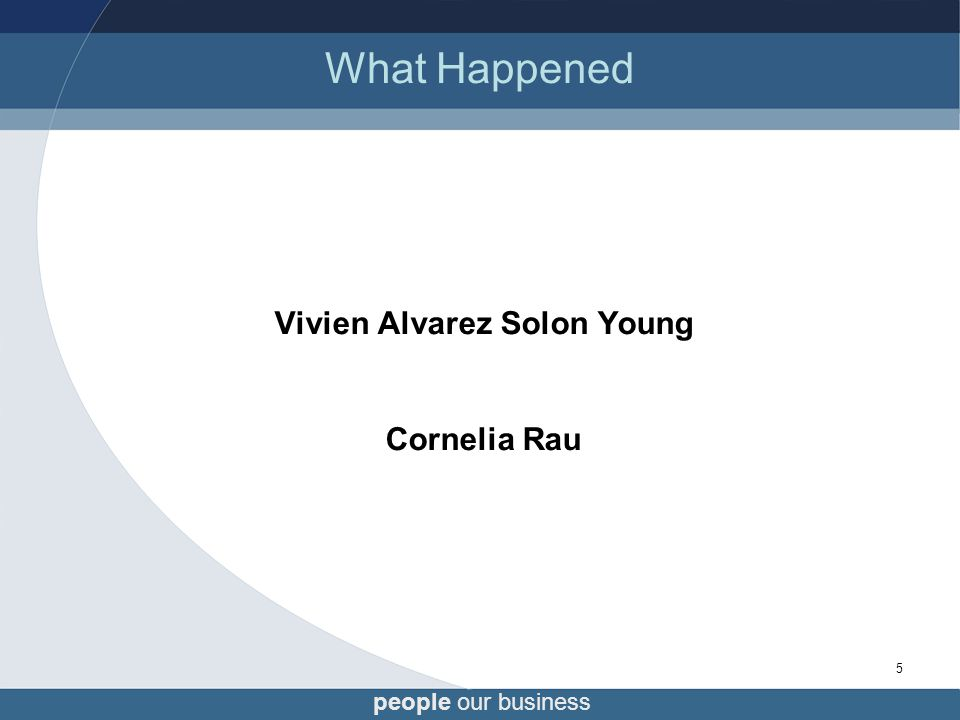 people our business 5 What Happened Vivien Alvarez Solon Young Cornelia Rau