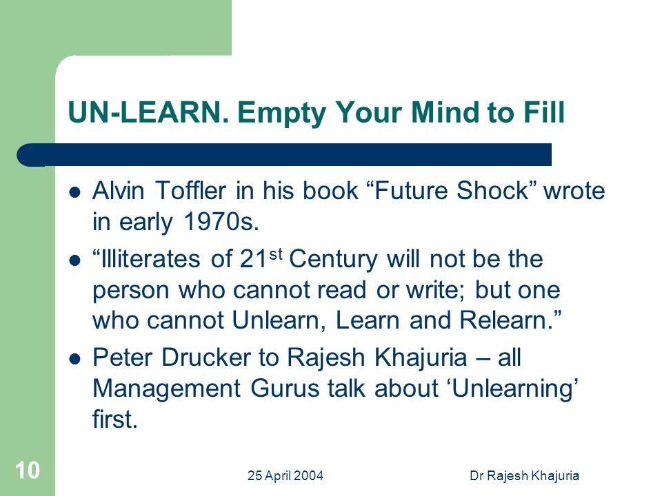 25 April 2004Dr Rajesh Khajuria 11 LEARN.