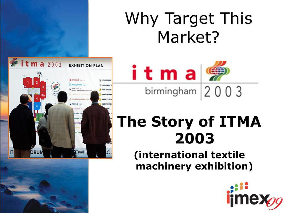 Why Target This Market? The Story of ITMA 2003 (international textile machinery exhibition)