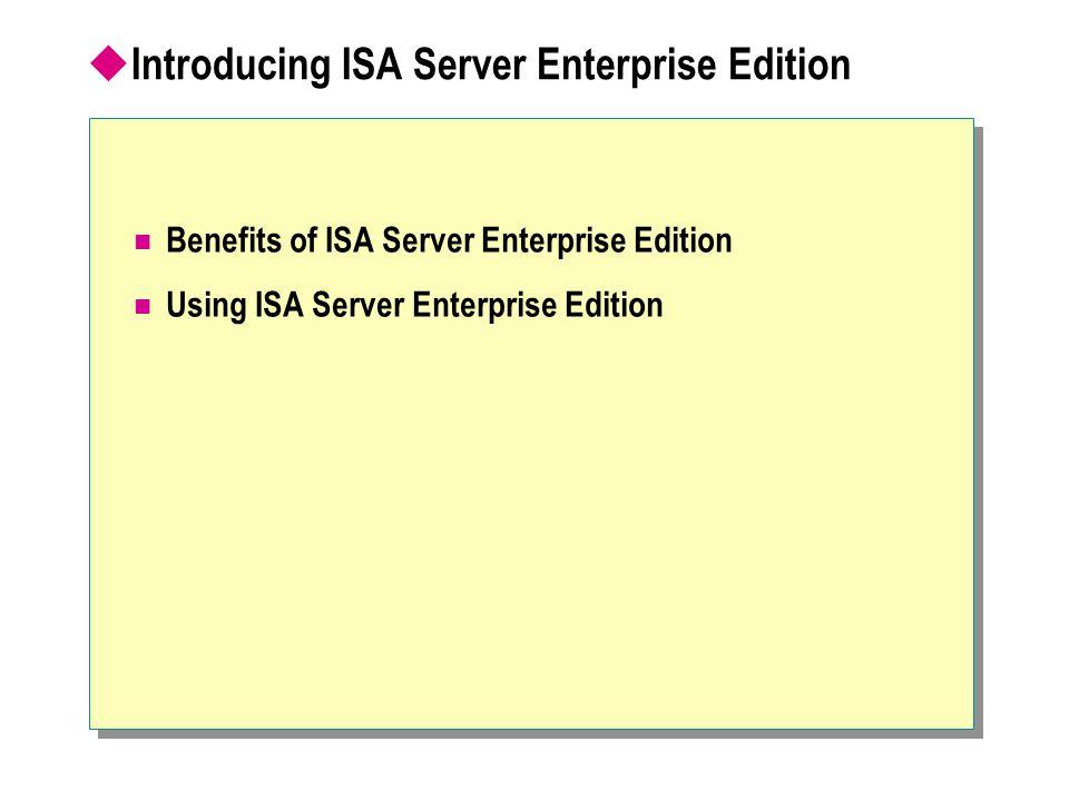  Scaling ISA Server Understanding CARP Configuring CARP Understanding Network Load Balancing