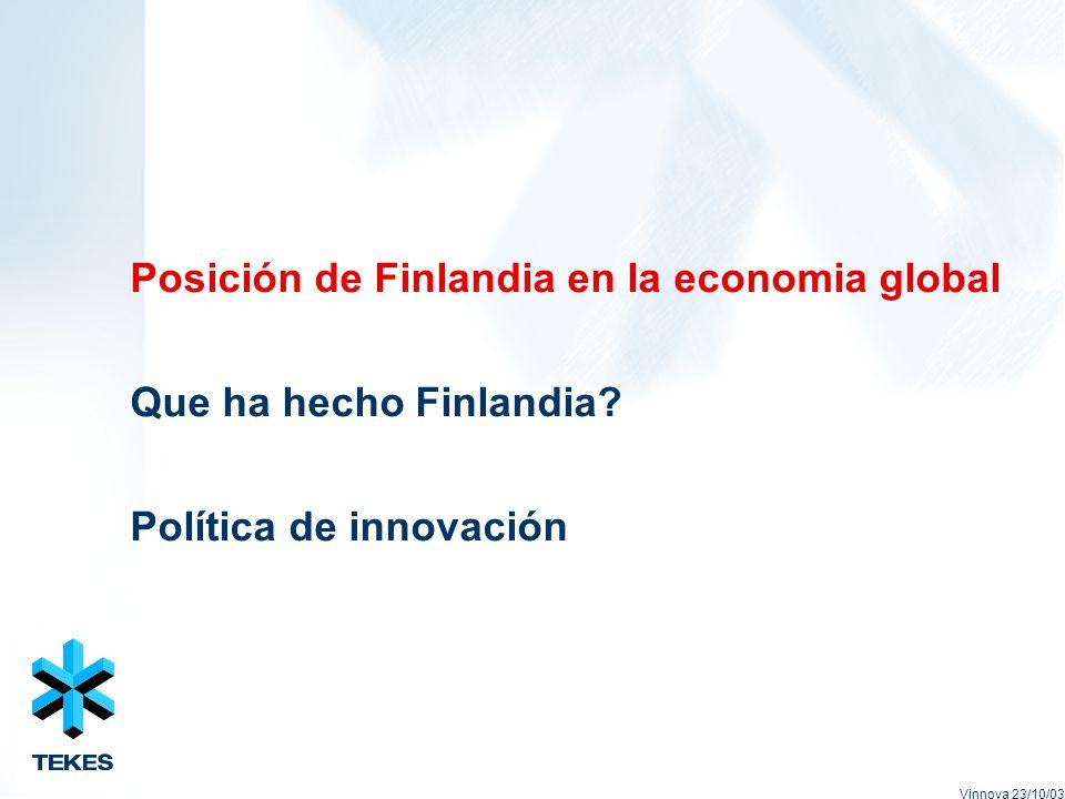 Posición de Finlandia en la economia global Que ha hecho Finlandia.