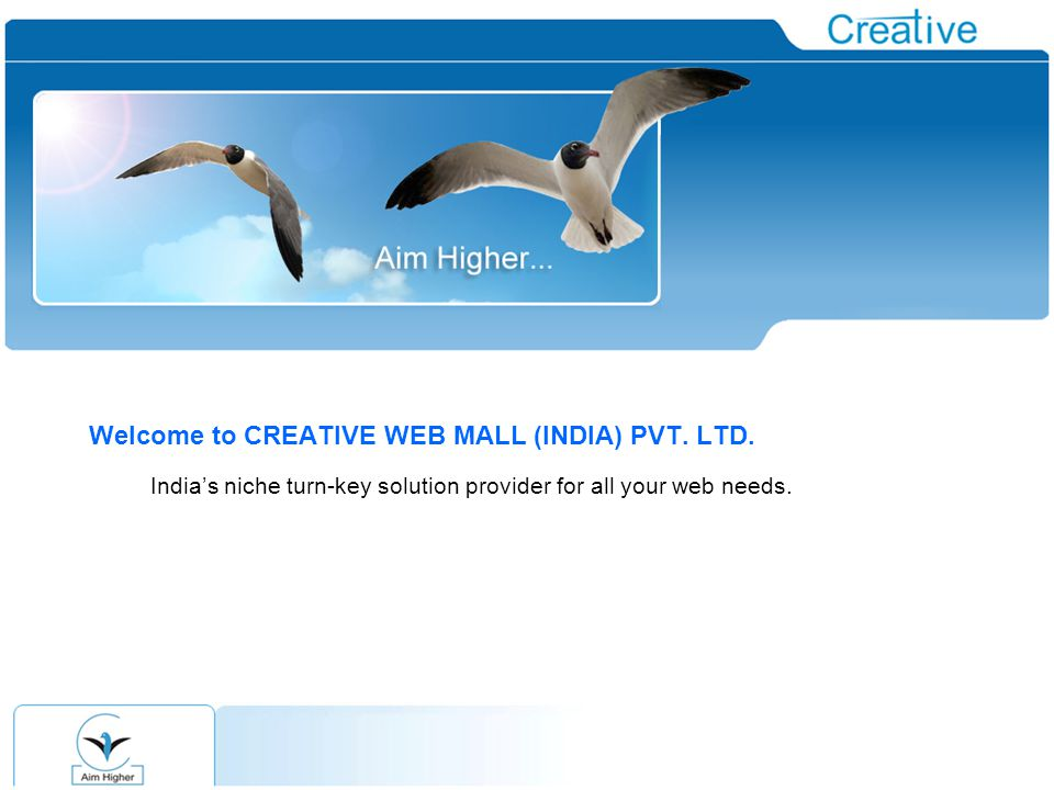 Welcome to CREATIVE WEB MALL (INDIA) PVT. LTD.