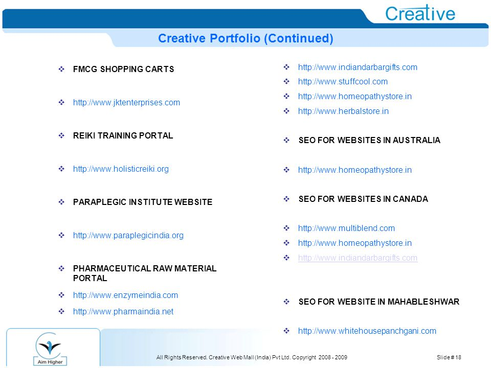All Rights Reserved. Creative Web Mall (India) Pvt Ltd.