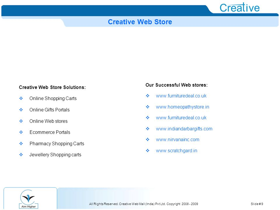 All Rights Reserved.Creative Web Mall (India) Pvt Ltd.