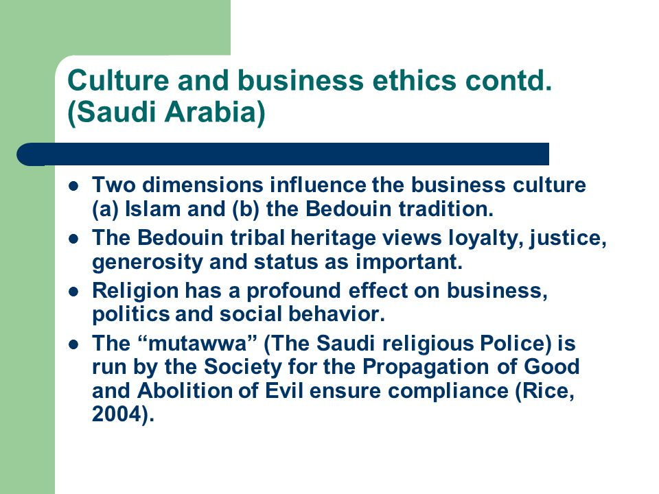 Culture and business ethics contd.