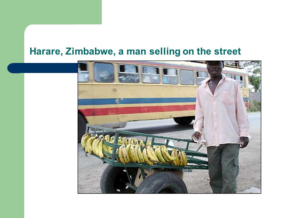 Harare, Zimbabwe, a man selling on the street