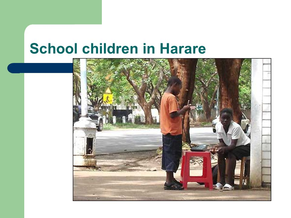 School children in Harare