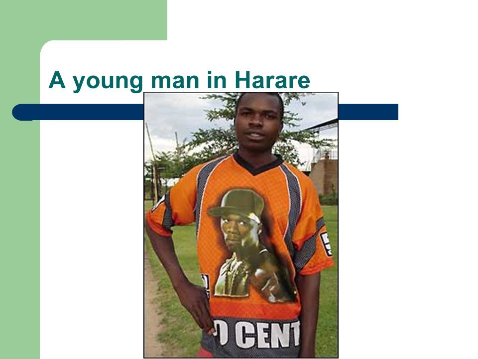 A young man in Harare