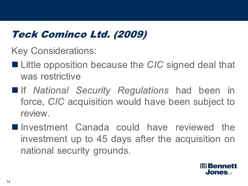 14 Teck Cominco Ltd.