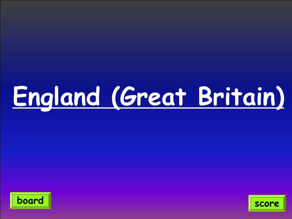 England (Great Britain) score board