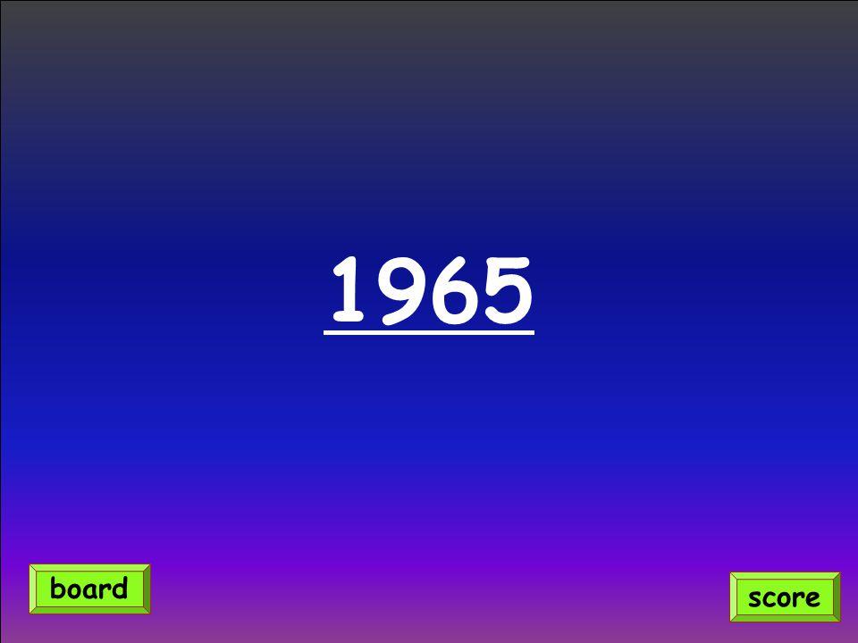1965 score board