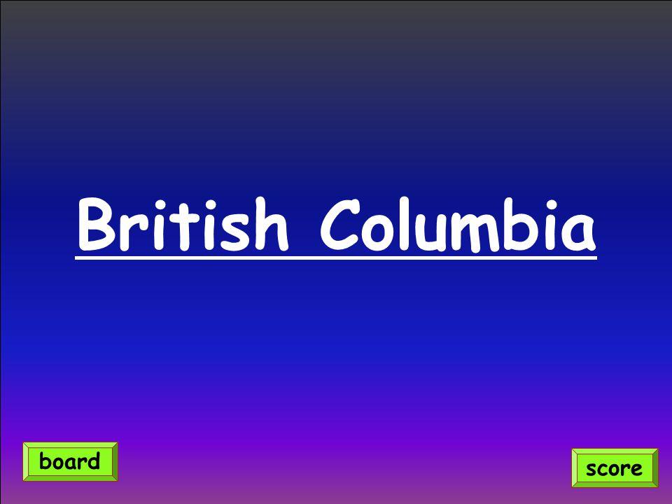 British Columbia score board