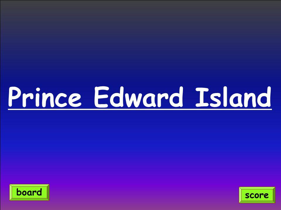 Prince Edward Island score board
