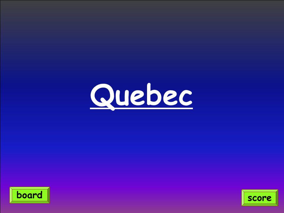 Quebec score board