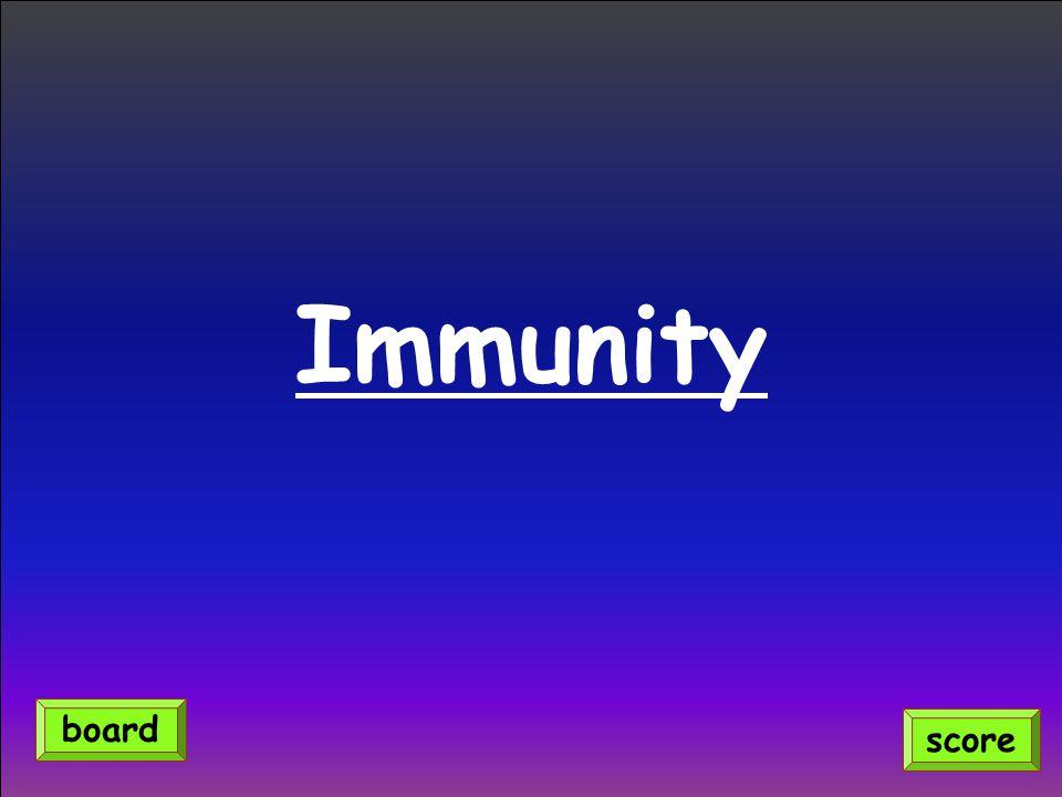 Immunity score board