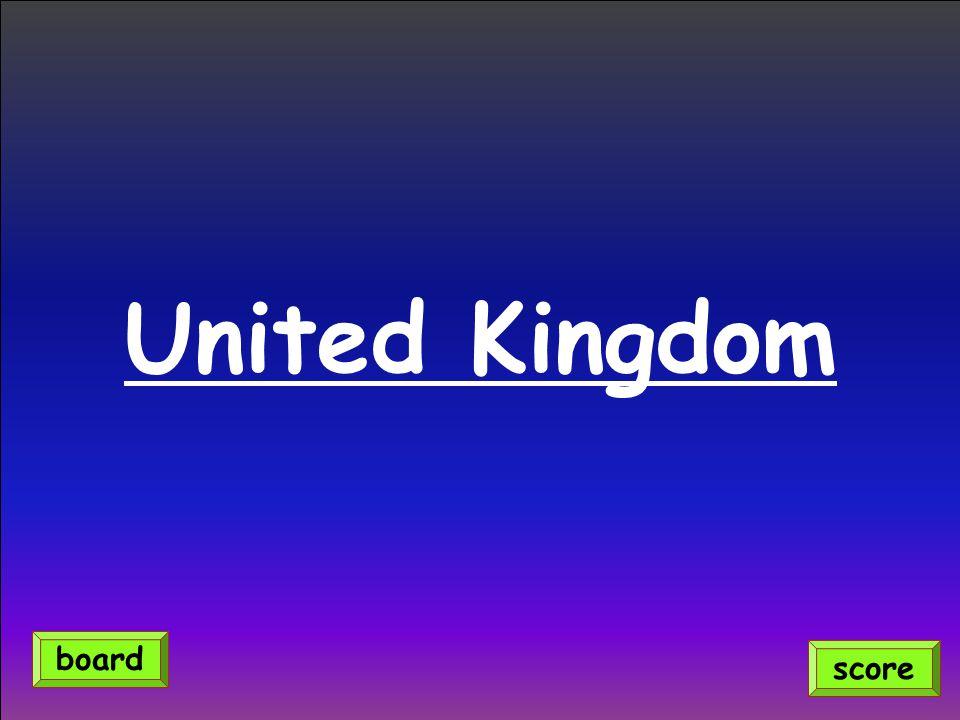 United Kingdom score board